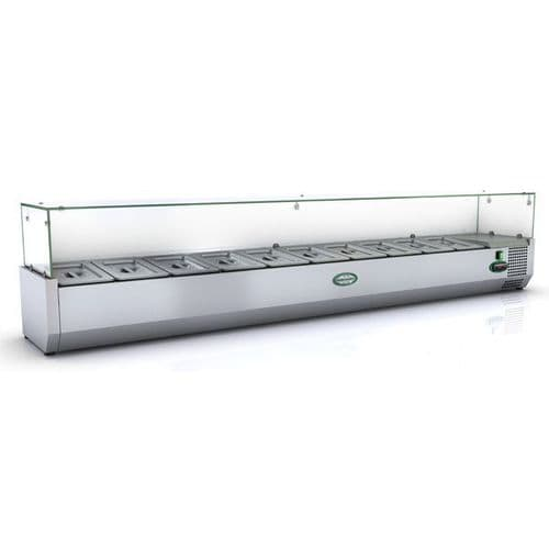 Genfrost - GRX200/14 - 10 X 1/4Gn Glass Top Gn Topping Rail