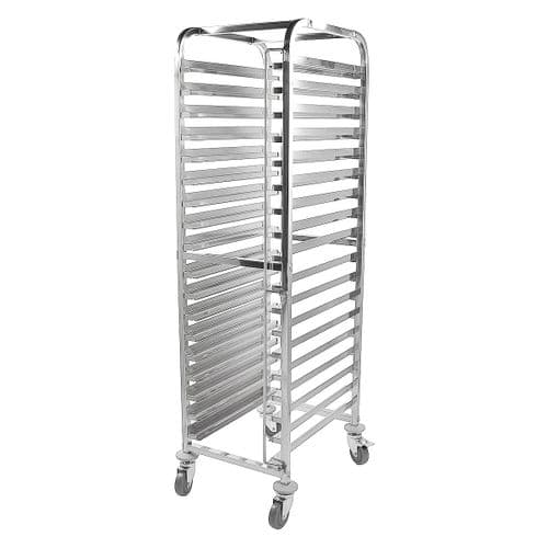 iMettos Multifunctional Racking Trolley 18 Shelves for GN Pan 1/1 & 40x60 cm Trays - 110401