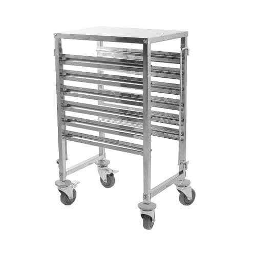 iMettos Racking Trolley 6 Shelves with Work Table Top for GN Pan 1/1 - 301010