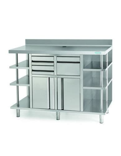 Infrico Stainles Steel Back Bar Coffee Unit - MCAF1500