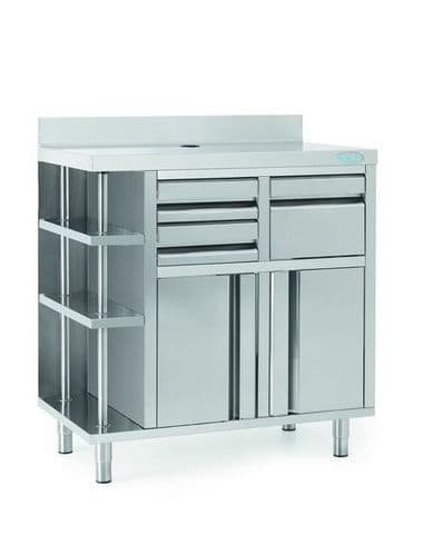Infrico Stainless Steel Back Bar Coffee Unit - MCAF1000CD