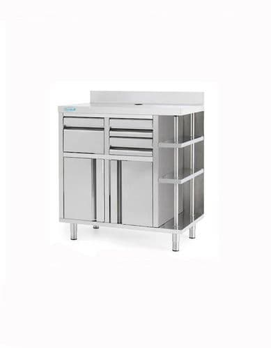 Infrico Stainless Steel Back Bar Coffee Unit - MCAF1000CI