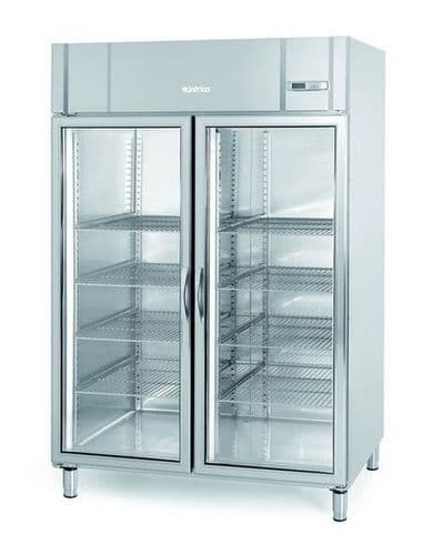 Infrico Upright SS 2/1 GN Freezer with Glass Door - AGB1402BT-CR