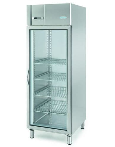 Infrico Upright SS 2/1 GN Freezer with Glass Door - AGB701BT-CR