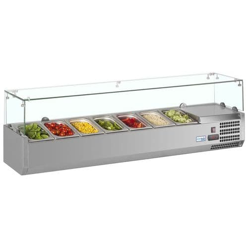 Interlevin Gastronorm Topping Shelf 7 x 1/4GN Pans - VRX1600/330