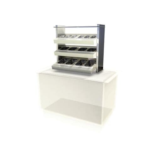 Kubus Drop In Ambient Cutlery/Condiment Unit KCCU2 - CW625