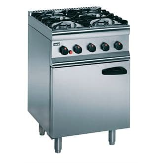 Lincat Silverlink 600 Natural Gas Range - 4 BURNER