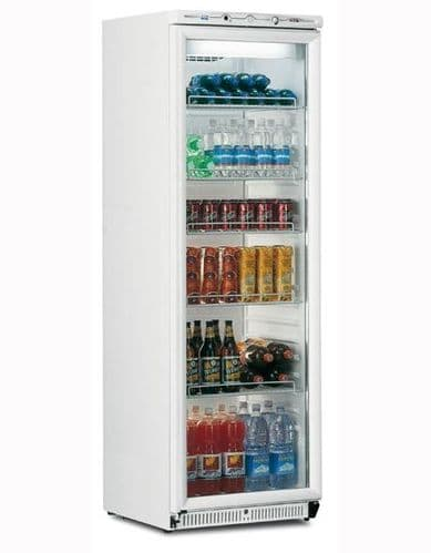 Mondial-Elite Upright White Refrigerator with Glass Door - BEVPR40