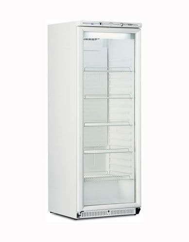 Mondial-Elite Upright White Refrigerator with Glass Door - BEVPR60