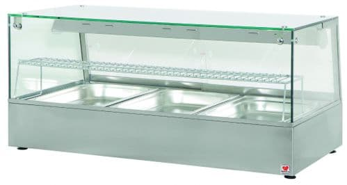 North HDW3 Convection Heated Display Counter With Humidity & Halogen Heat Lamps