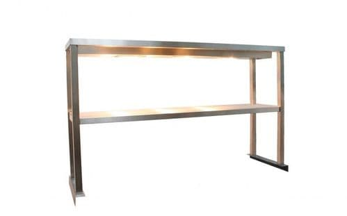 Parry 1500mm Heated Double Tier Stainless Steel Heated Gantry - SHELFTT15350-HEATED