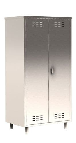 Parry Stainless Steel COSHH Double Door Cupboard - HCCOSHD1800