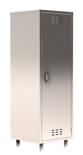 Parry Stainless Steel COSHH Single Door Cupboard - HCCOSHS1800