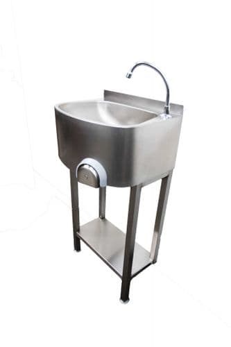 Parry Stainless Steel Freestanding Knee Operated Hand Basin - CWBKNEES