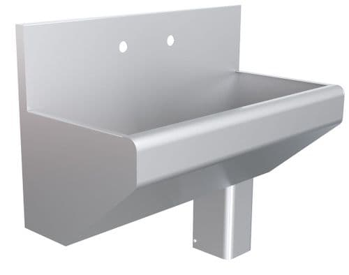 Parry Stainless Steel Scrub Sink With Upstand - SCRUB2100U