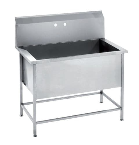 Parry Stainless Steel Utility Sink 800mm Wide - USINK800