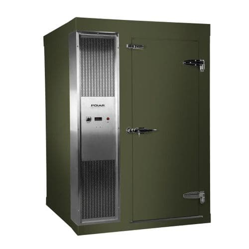 Polar 1.2 x 1.5m Integral Walk In Cold Room Green - DS480-CGN