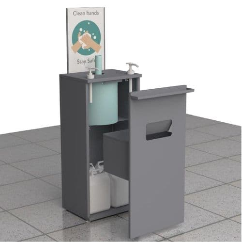 Prince Castle Hand Sanitiser Station with Twin Pump & Paper Towel Dispenser - SS-FSU-2