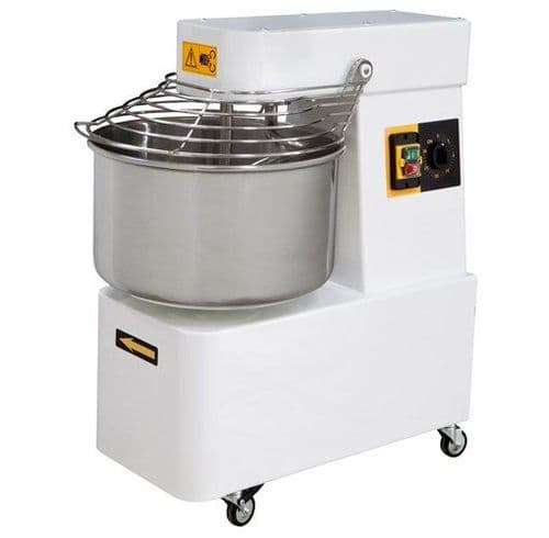 Prismafood Heavy Duty Fixed Bowl Spiral Dough Mixer 32 Litre / 25Kg Capacity - IBM30
