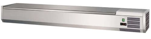 Prodis T12S 1200mm 4 x 1/3GN topping unit with stainless steel lid
