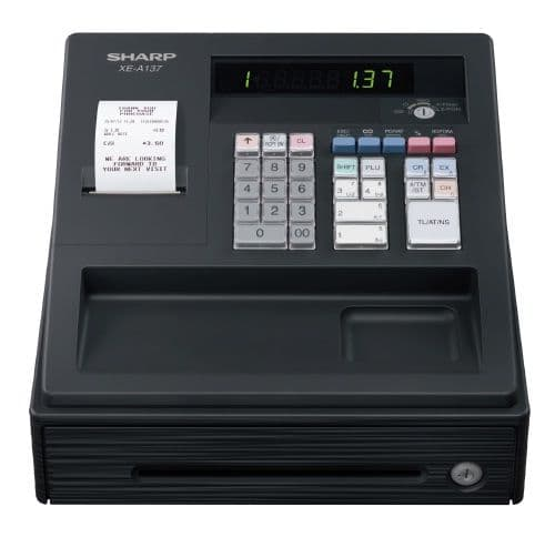 SHARP Cash Register - XE-A137 Black