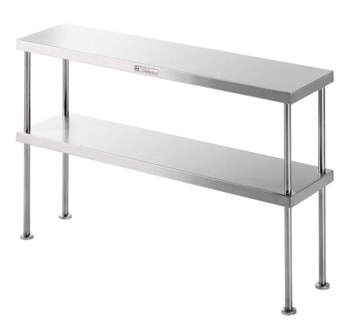 Simply Stainless 900mm Double Overshelf - SS130900