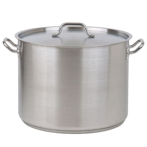 Stainless Steel Stock Pot with Lid - 25 Litre