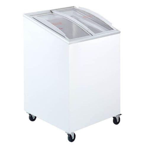 Tefcold Sliding Curved Glass Lid Chest Freezer - IC100SCEB