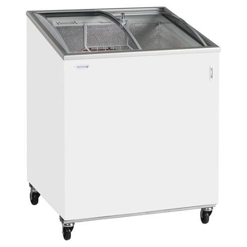 Tefcold Sliding Curved Glass Lid Chest Freezer - IC200SCEB