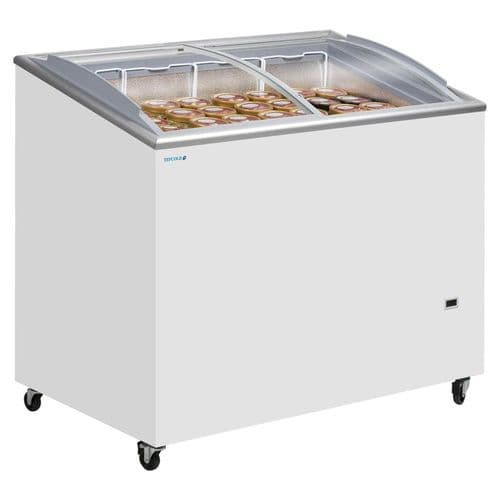 Tefcold Sliding Curved Glass Lid Chest Freezer - IC300SCEB