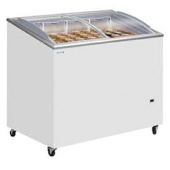 Tefcold Sliding Curved Glass Lid Chest Freezer - NIC200SCEB