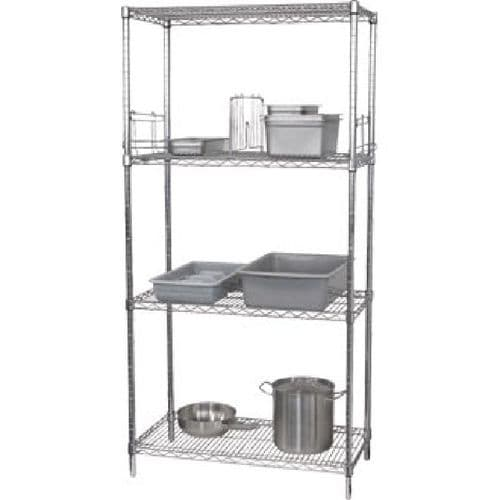 Vogue 4 Tier Wire Shelving Kit 1220x 610mm - U257