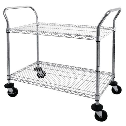 Vogue Chrome 2 Tier Wire Trolley - CC430