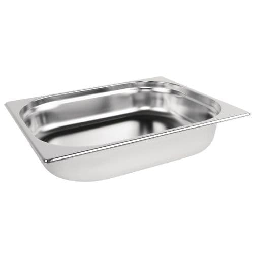 Vogue Stainless Steel 1/2 Gastronorm Pan 65mm - K927