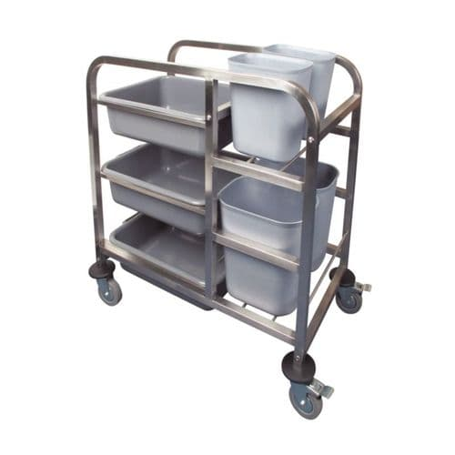 Vogue Stainless Steel Bussing Trolley - DK738