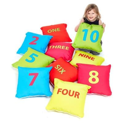 Number Cushion Pack of 10,Children's floor cushions,classroom floor cushions,numeracy floor cushions