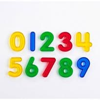 10 Pack Transparent Numbers