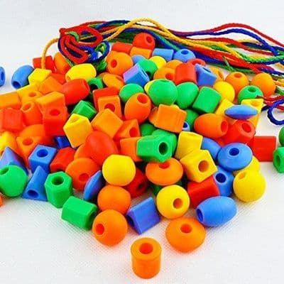 100 Piece Lacing Bead Set,Lacing Beads,Threading toys,threading games,threading resources,childrens threading beads,hand and eye coordination resources