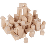 100 Wooden Blocks in a Bag