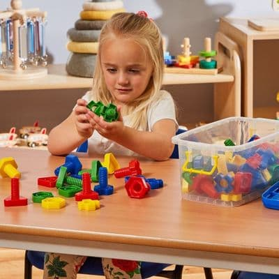 128 Piece Nuts and Bolts Pairing Kit,STEM toys,science, technology, engineering, and mathematics.educational resources,science, technology, engineering, and mathematics classroom resources