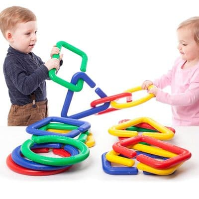 16 Piece Giant Linking Shapes,Fine motor skills games,school numeracy resources,classroom numeracy resources