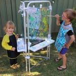 3 sided Easel Set with 3 Clear boards