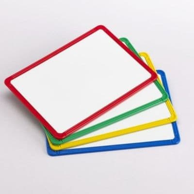 4 Pack Magnetic Plastic Framed Whiteboards,Wipe clean writing boards,classroom wipe clean boards