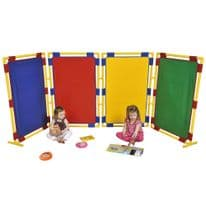 4 Rectangular Coloured Room Dividers
