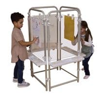 4 sided Easel Set with 4 Clear boards