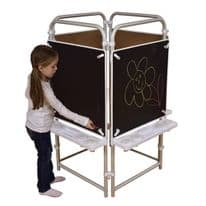 4 sided Easel Set with 4 Magnetic Chalkboards