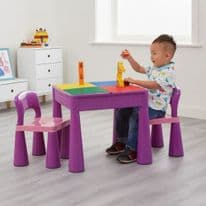 5-in-1 Multi-Purpose Table and Chair Set Purple
