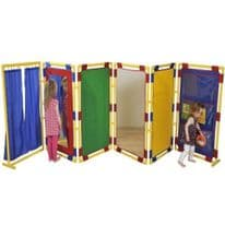 6 Rectangular Coloured Activity Divider Panels