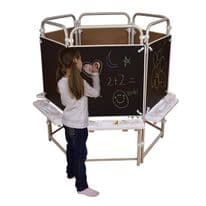 6 sided Easel Set with 6 Magnetic Chalkboards