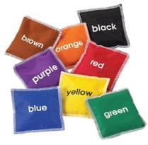 8 Pack Colour Name Bean Bags